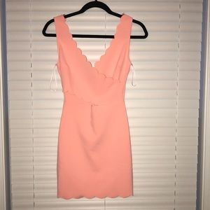 Tea n Cup Scalloped Cross Front Dress